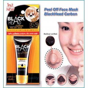 Mistine Blackhead Carbon Charcoal Peel Off Face Mask Removes black sports and cleans pores