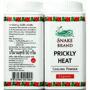 Prickly Heat Powder Snake Brand Classic Cooling 50 g