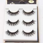 Thick Black Eyelashes Makeup 3 Pairs Long Fake Lashes Extension
