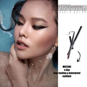Mistine 1 Day Lasting Waterproof Eyeliner - Black Color, Smooth Texture