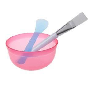 Makeup DIY Facial Face Mask Bowl - Brush - Spoon - Stick Beauty Tool Kit / 3Pcs