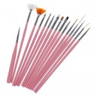 Nail Art Acrylic UV Gel Design Brush Set Painting Pen Tips Tools Kit 15Pcs