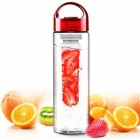Red 700ML BPA FREE Fruit Infuser Water Bottle Sports Juice Maker