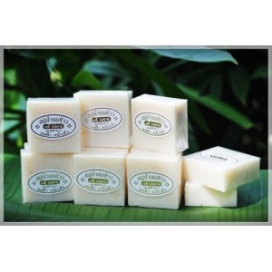 Thai Rice Milk Herbal Soap Handmade Whitening Collagen Natural Body Face Acne